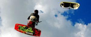 kite riders kiteboarder flying