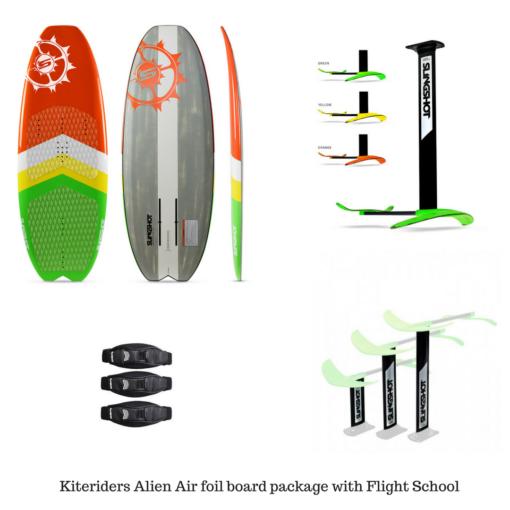 Slingshot-Alien-air-foil-package-with-flight-school-hoverglide