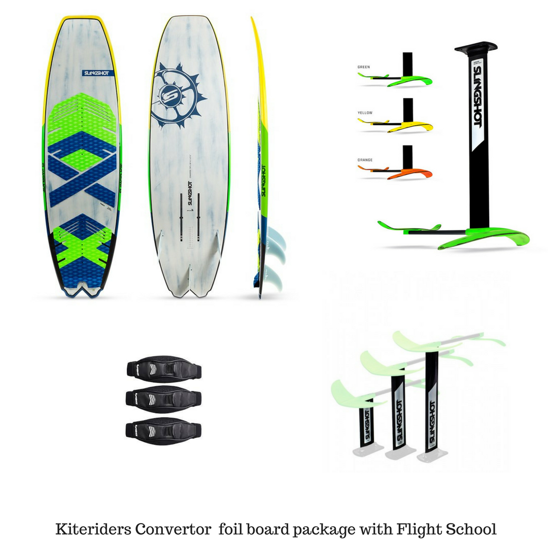 2018 Slingshot Converter Foil board Complete Package with Flight School