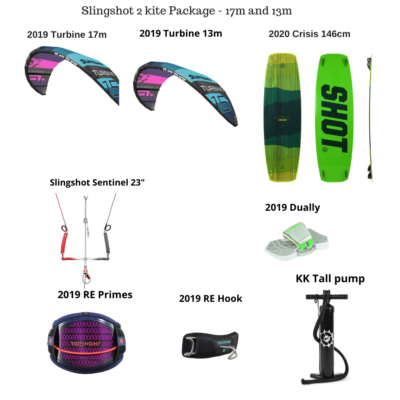 Slingshot-17m-13m-kite-package